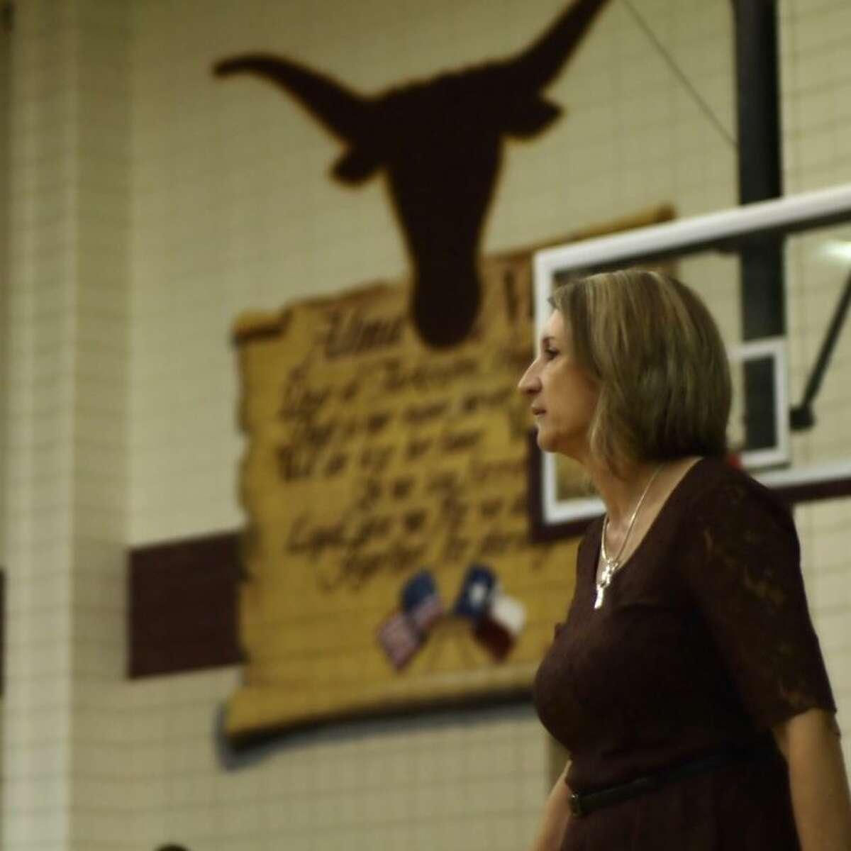 Tarkington volleyball coach Denise Johnson.