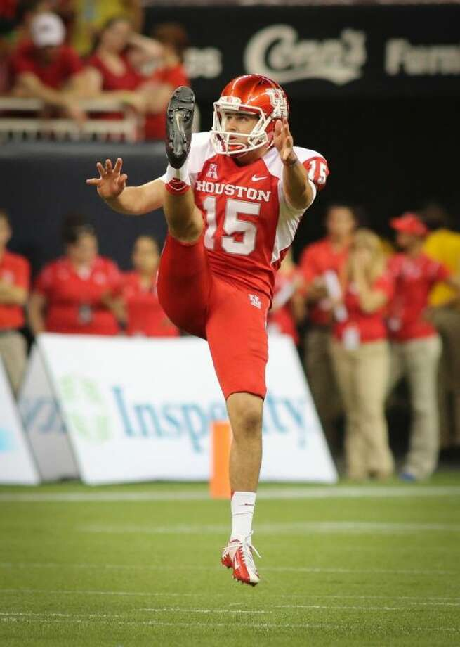 Houston senior punter Richie Leone accepted an invitation Tuesday to play in the East-West Shrine Game, which will be held Jan. 18 at Tropicana Field in St. Petersburg, Fla. The game will kick off at 4 p.m. EST and air on the NFL Network. Photo: Stephen Pinchback
