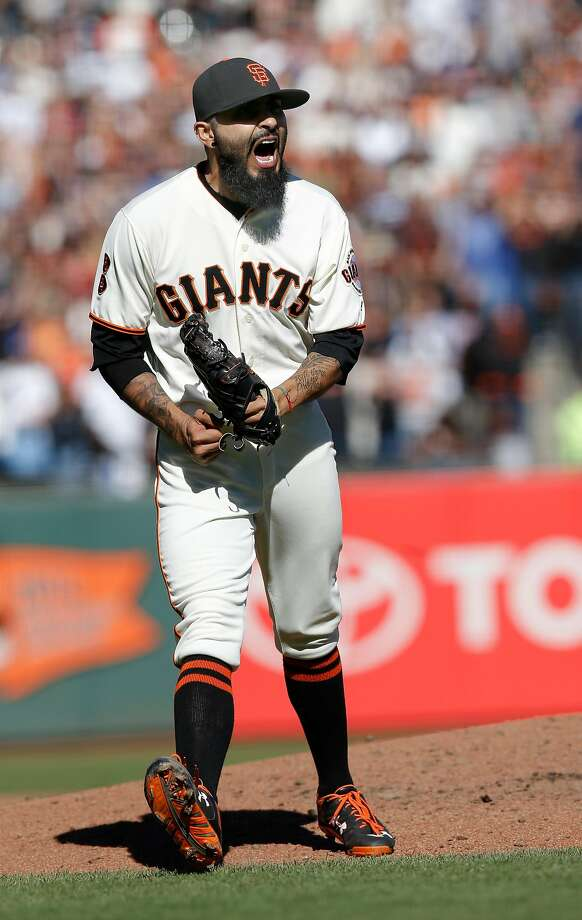 Giants' closer Sergio Romo closes out the ninth inning as the San Francisco Giants beat the Los Angeles Dodgers 3-0 at AT&T Park  in San Francisco, California , on Sat. Oct. 1, 2016. Photo: Michael Macor, The Chronicle