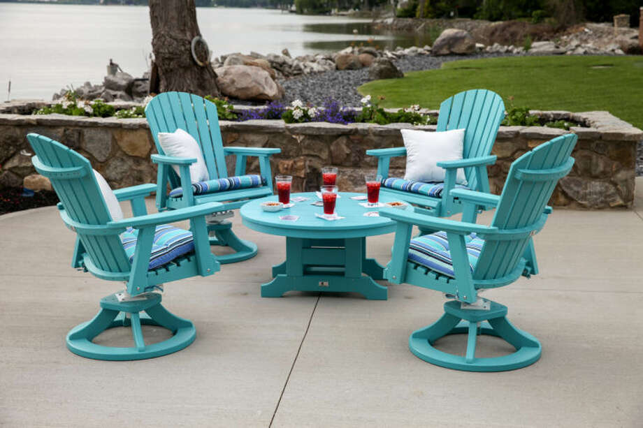 A Comfo Back Swivel Rockers Conversation Set from Magnolia Outdoor Living, one of the vendors that will be featured at the upcoming fourth annual Sugar Land Home and Garden Show, Jan. 25 and 26 at Stafford Centre. Photo: Submitted Photo