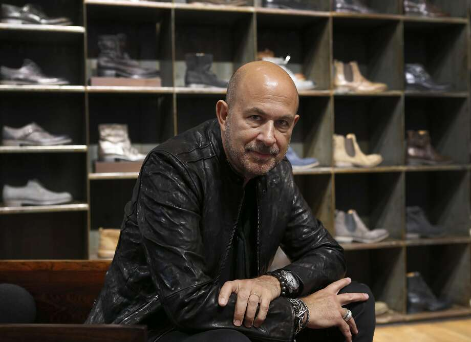 Fashion designer John Varvatos visits his Union Square boutique in San Francisco. Photo: Paul Chinn, The Chronicle