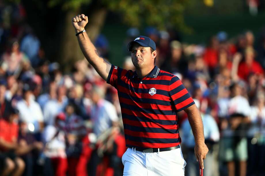 Patrick Reed helped the U.S. to a three-point lead going into Sunday's final day at the Ryder Cup. Photo: Sam Greenwood, Getty Images