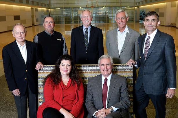 Back row (L to R): Jim Alsup, Mark Alexander, Dr. Steve Thomas, Mayor Wes Perry, Faron Thibodeaux Seated (L to R): Laura Roman, Tim Leach