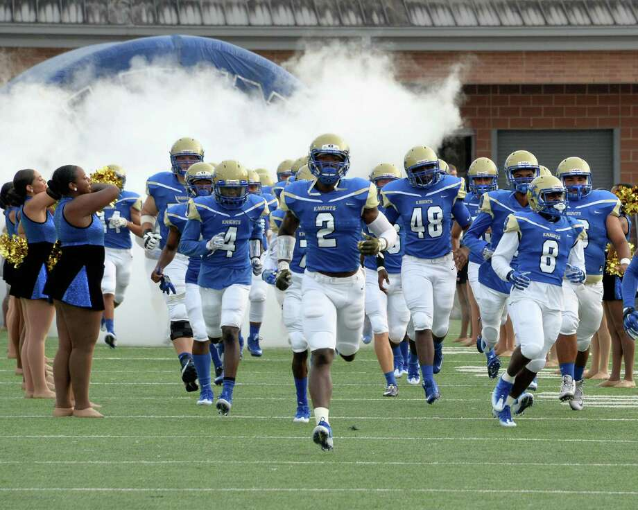Oct. 1: Elkins 30, Galena Park 17The Elkins Knights take the field for a high school football game against the Galena Park Yellow Jackets on October 1, 2016 at Hall Stadium, Missouri, TX. Photo: Craig Moseley, Houston Chronicle / ©2016 Houston Chronicle