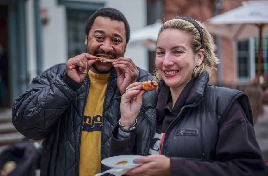 Were you Seen at Proctors' 5th Annual Wing Walk tasting wings from nearly two dozen eateries in downtown Schenectady on Saturday, Oct. 1 , 2016? Photo: Richard Lovrich
