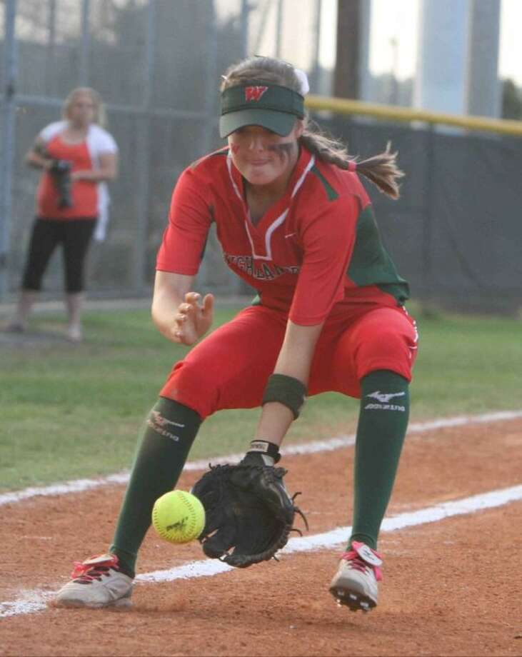 Third baseman Kaitlyn Stavinoha and The Woodlands face Westlake on Friday night in the area round of the Class 5A softball playoffs.