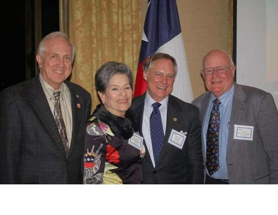 From left are Cecil Willis of Stafford, Delores Martin of Manvel, Bob Fry of West University Place and Pat McLaughlan of Bellaire. Martin and Fry represent Home Rule Cities on the H-GAC Board of Directors, while Willis and McLaughlan are alternates.