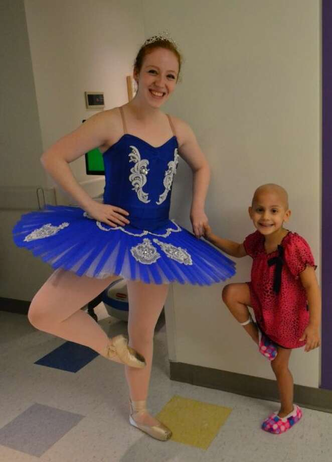 Ballet Jete' Company Member Michelle McKay with Alina at Texas Children's Hospital. Photo: SUBMITTED PHOTO