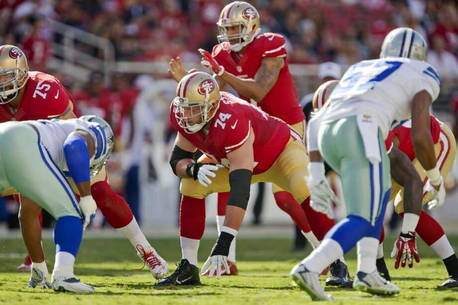 3261c29a9 San Francisco 49ers  Joe Staley against Los Angeles Rams during NFL game at  Levi s Stadium in Santa Clara