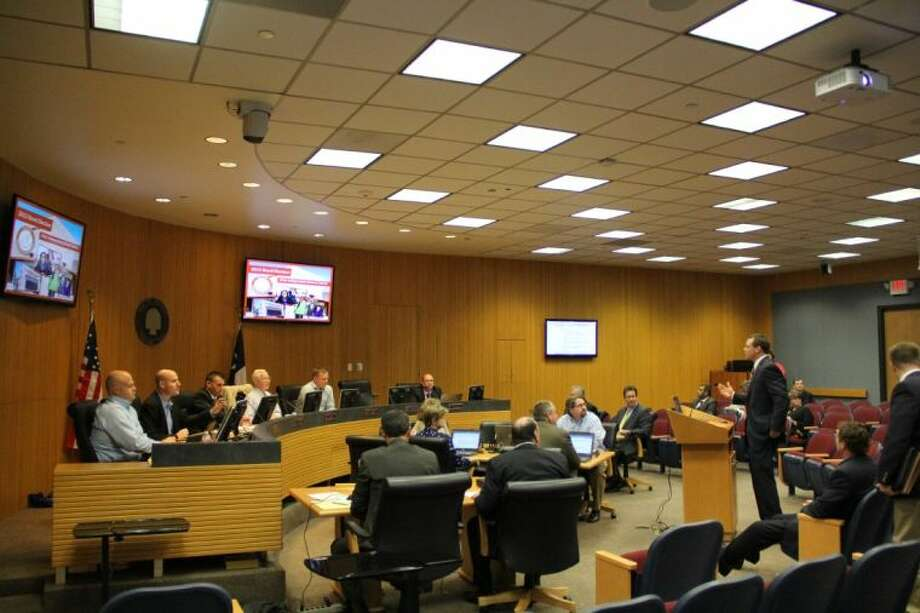 Alvin Independent School District Superintendent Dr. Fred Brent spoke before Mayor Tom Reid and the Pearland City Council at a workshop held Monday (Oct. 7). Photo: KRISTI NIX