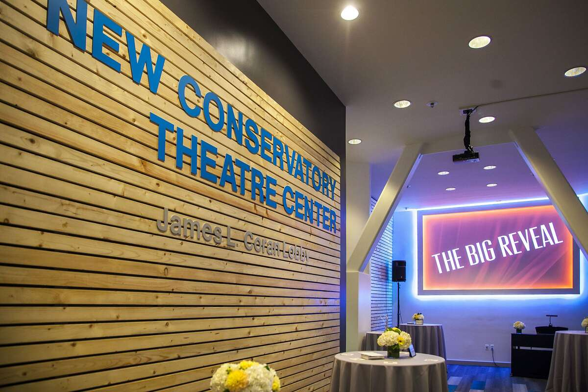 The James L. Coran Lobby, at the New Conservatory Theatre Center, on Saturday, Oct. 1, 2016 in San Francisco, Calif. A gala was held that celebrated the LGBT company's 35th anniversary, as well as the unveiling of its newly renovated lobby.