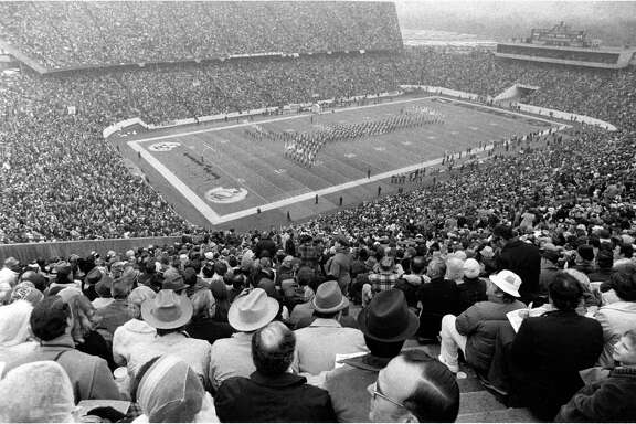 A total of 71,882 fans packed Rice Stadium for Super Bowl VIII between the Minnesota Vikings and Miami Dolphins on Jan. 13, 1974. The Dolphins won 24-7.
