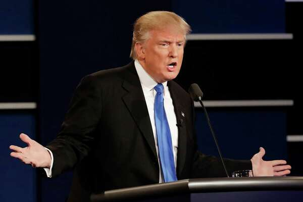 Republican presidential nominee Donald Trump answers a question during the presidential debate with Democratic presidential nominee Hillary Clinton. Despite what Trump has said, America has outperformed other advanced economies and ranks among the world's most competitive countries.