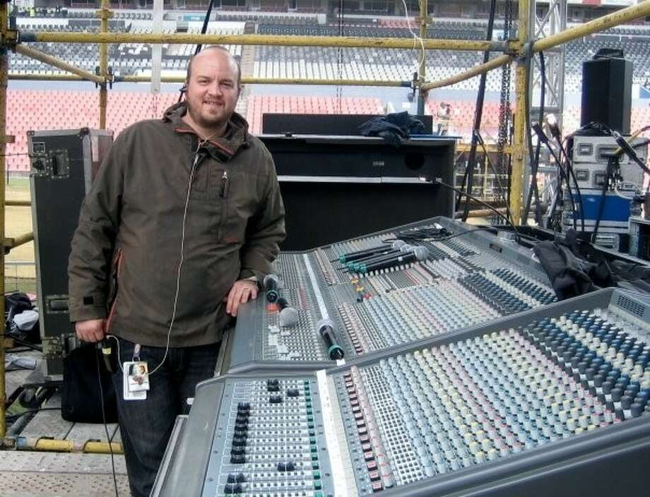 Tarkington native Joshuah White makes sure all goes well in the sound department for country singer LeAnn Rimes. He currently resides in Nashville, Tenn., where he works at every gig that Rimes is scheduled to attend.