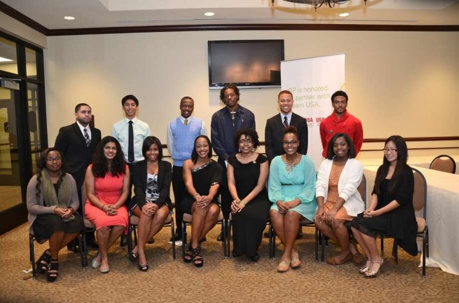Student beneficiaries of Men for Change scholarships at the organization's Education Gala at Quail Valley Country Club in Missouri City on Friday, Jan. 3. Photo: Shirley Shaw