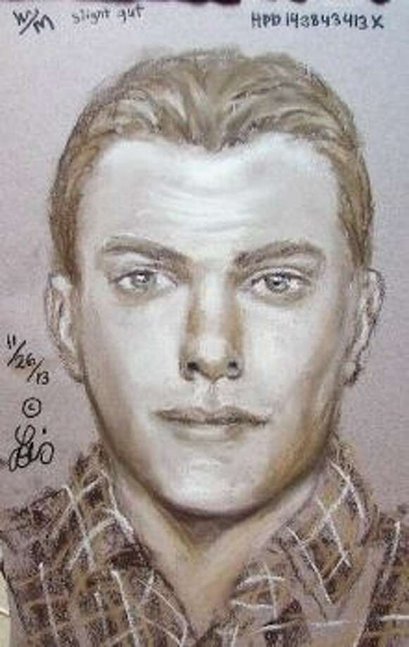 Houston police have released a composite sketch of a suspect in a case of indecency with a child at 1601 Nasa Parkway that happened about 3:30 p.m. on November 16.The suspect is described only as a white man, with a slight belly, sandy blonde or light brown hair and clean shaven. He was accompanied by a male toddler.The young female victim, 6, was at Space Center Houston in the Angry Birds play area when she was approached by the man. The suspect knelt next to her and touched her inappropriately.Anyone with information on this case is asked to call the HPD Juvenile Division at 713-731-5335 or Crime Stoppers at 713-222-TIPS. Photo: Courtesy Houston Police Dept.