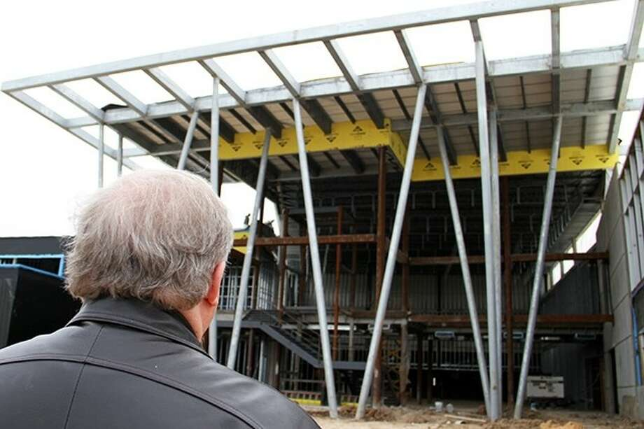 Construction on the Career & Technical High School, Pasadena ISD's first high school to focus exclusively on a career and technical education, is on track to be completed August 2014. Pictured here: The front entrance of the Career and Technical High School. Photo: Courtesy Pasadena ISD
