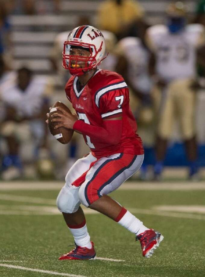 Lamar senior quarterback Darrell Colbert was named the District 20-5A Most Valuable Player for the second consecutive year. Photo: Kevin B Long