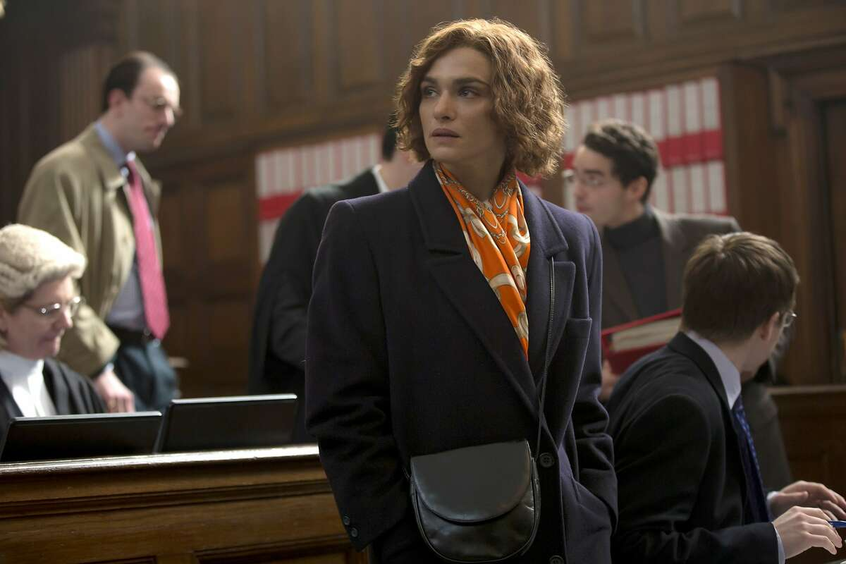 In this image released by Bleecker Street, Rachel Weisz portrays writer and historian Deborah E. Lipstadt in a scene from