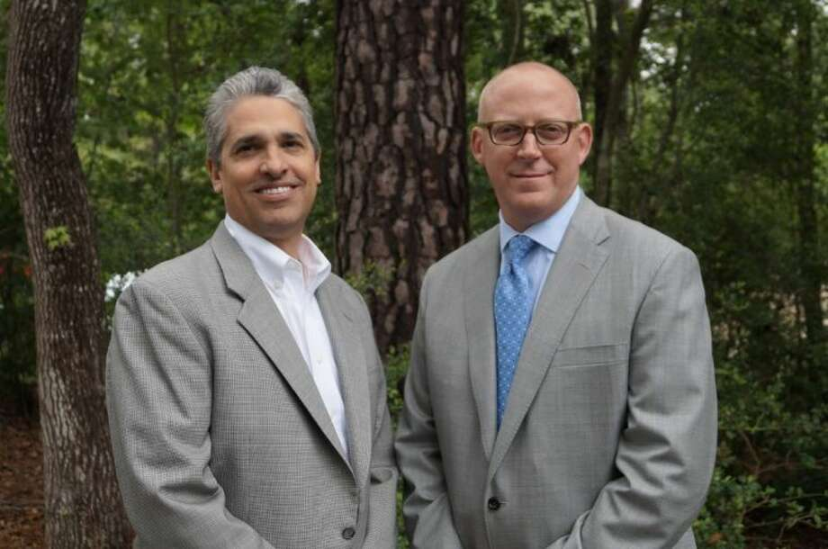 Mario Coll, left, and Jeff Shipley are named honorary chairs of The Woodlands Celebration of Excellence Gala, honoring the 2013 Hometown Heroes.