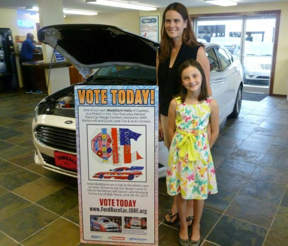 "Maddilynn Kelly with her mom Elizabeth was named a finalist in the Juvenile Diabetes Research Foundation and Ford Customer Service Division's sixth annual ""Everyday Heroes Contest."""