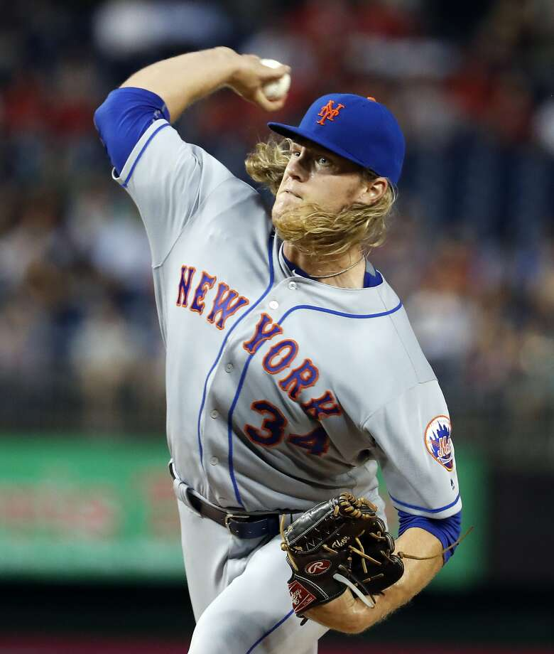 Noah Syndergaard will face off with Madison Bumgarner. Photo: Alex Brandon, Associated Press