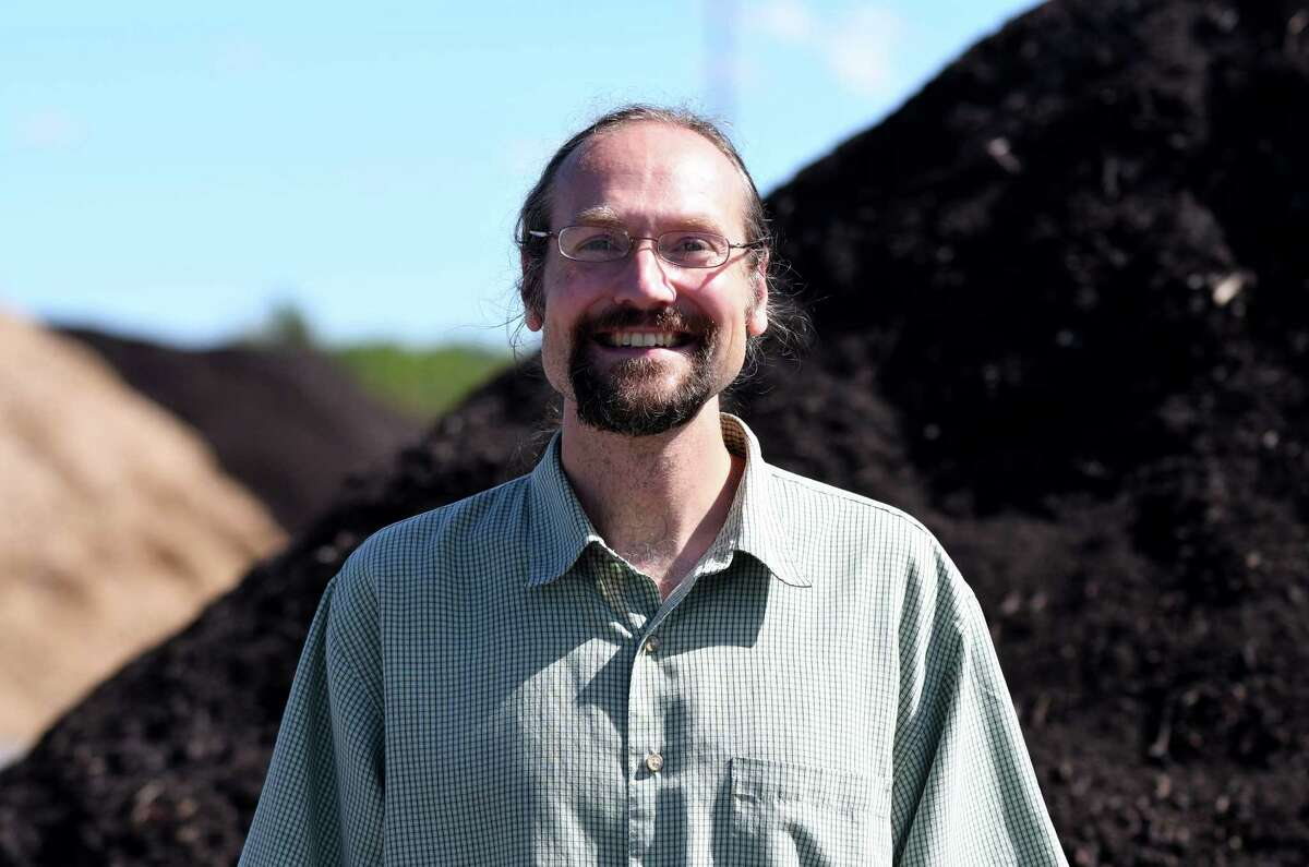 Town of Bethlehem Recycling Coordinator Dan Rain stands at the Bethlehem Composting Facility on Monday, Sept. 12, 2016, in Bethlehem, N.Y. (Will Waldron/Times Union)