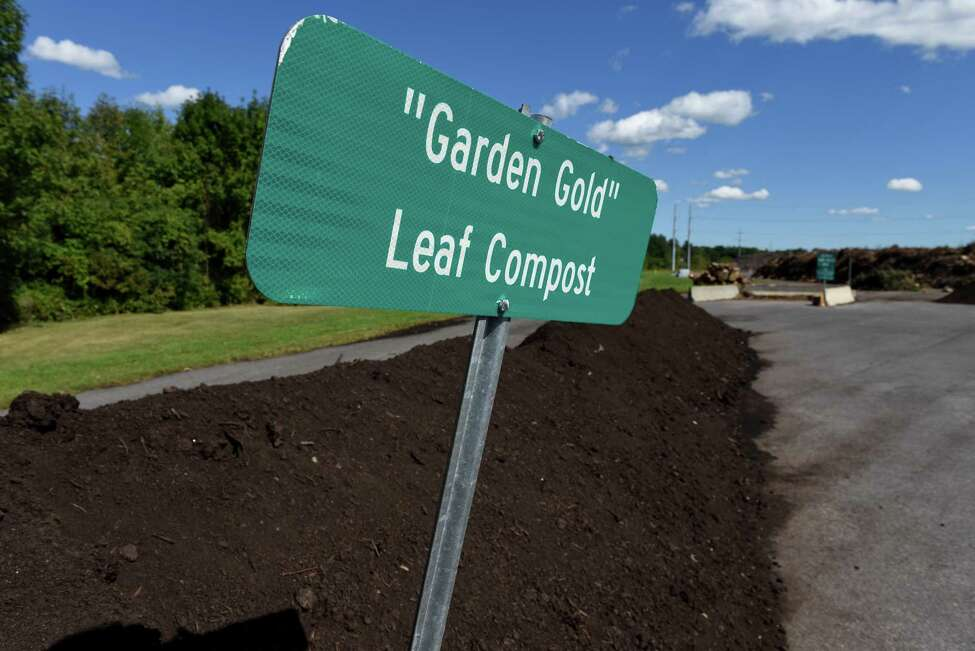 A pile of leaf compost sits at the Bethlehem Composting Facility at 1244 Fuera Bush Drive on Monday, Sept. 12, 2016, in Bethlehem, N.Y. (Will Waldron/Times Union)