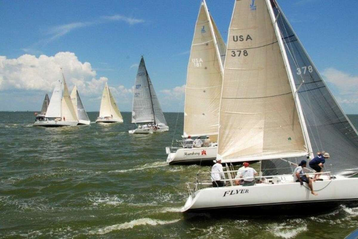 Bay Cup racers on Galveston Bay.