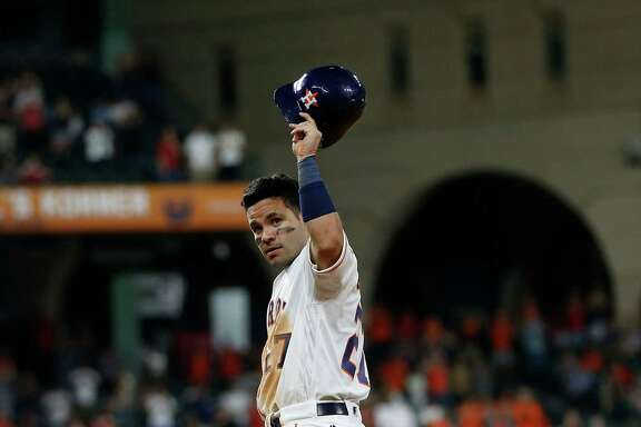 En route to winning the AL batting title with a .338 average, Jose Altuve celebrated his 1,000th career hit in an August game at Minute Maid Park.