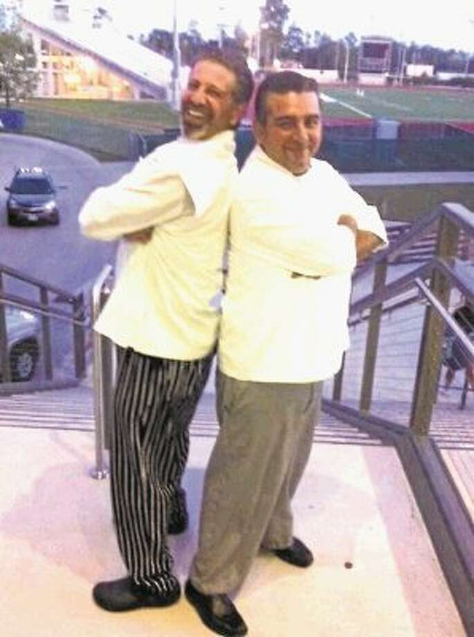 "Chef Andrew ""Drew"" Rogers, left, pastry chef and owner of Drew's Pastry Place in Northwest Houston and ""Cake Boss"" reality TV star Buddy Valastro. / @WireImgId=2658080"