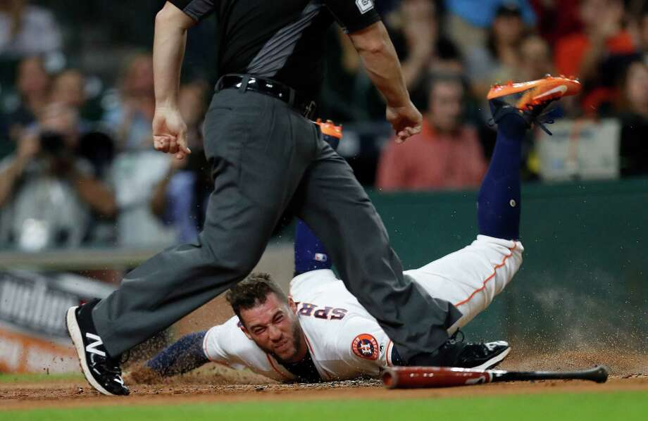 Astros outfielder George Springer made scoring a frequent occurrence this season. With 116 runs, he ranked fifth in the AL and tied for sixth in the majors. Photo: Karen Warren, Staff Photographer / 2016 Houston Chronicle
