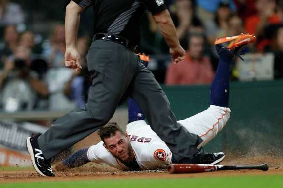Astros outfielder George Springer made scoring a frequent occurrence this season. With 116 runs, he ranked fifth in the AL and tied for sixth in the majors.