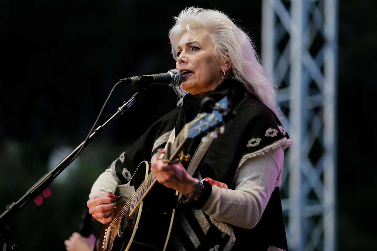 Emmylou Harris performs at the Hardly Strictly Bluegrass music festival in Golden Gate Park in San Francisco, California, on Sunday, Oct. 2, 2016.