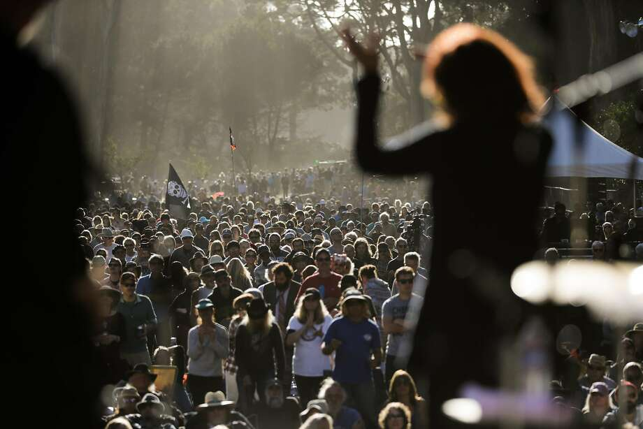 Rosanne Cash performs while the crowd dances along, at the Hardly Strictly Bluegrass music festival in Golden Gate Park in San Francisco, California, on Sunday, Oct. 2, 2016. Photo: Gabrielle Lurie, The Chronicle