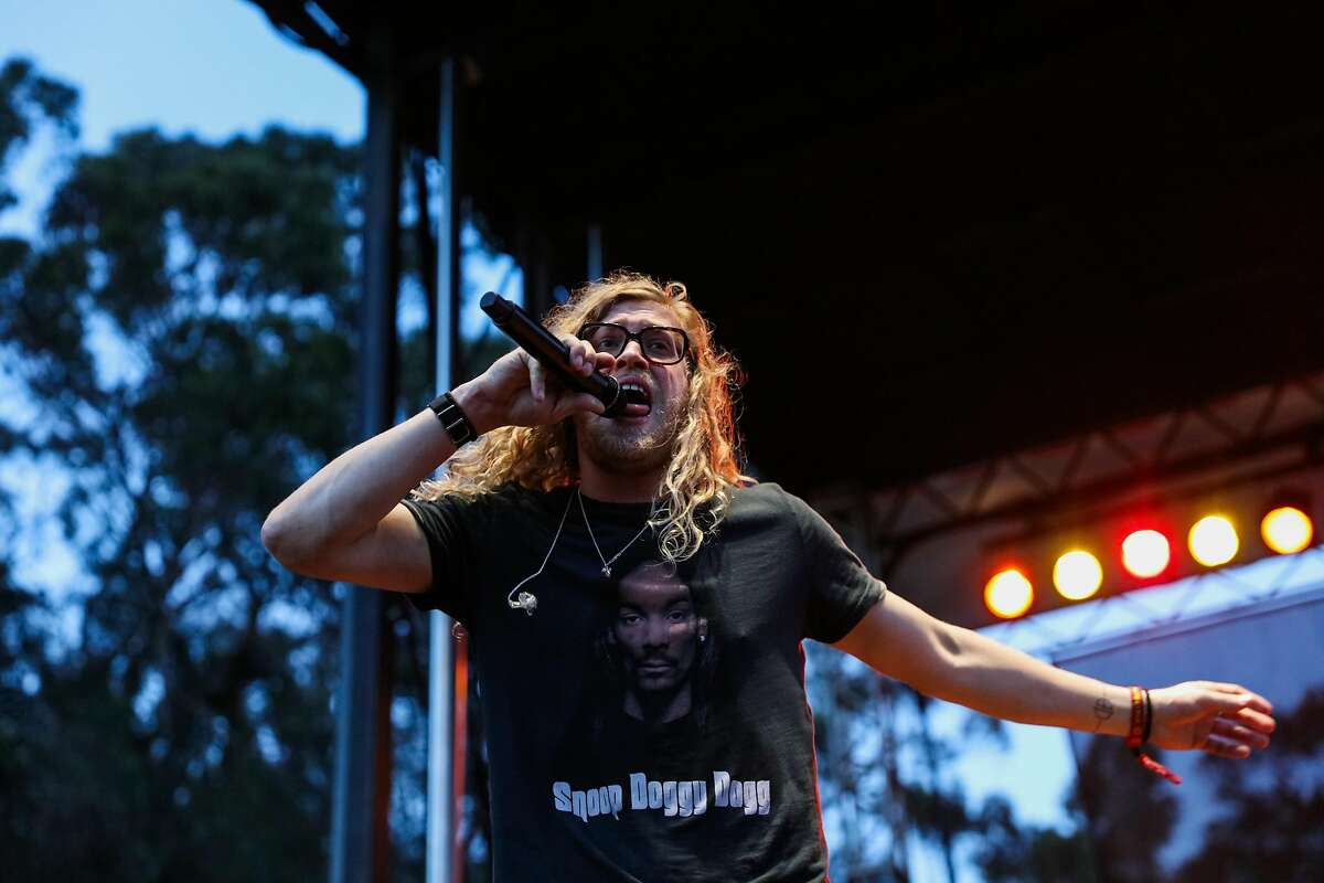 Allen Stone performs at the Hardly Strictly Bluegrass music festival in Golden Gate Park in San Francisco, California, on Sunday, Oct. 2, 2016.
