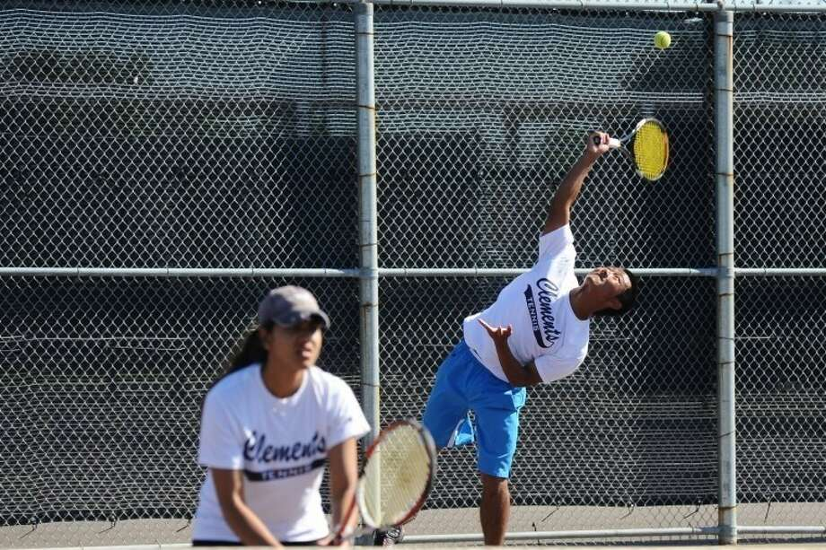 Jimmy Zhang and Isha Gandhi helped Clements finish as District 23-5A champions and Region III-5A finalists during the 2011 team tennis season. Photo: Kirk Sides