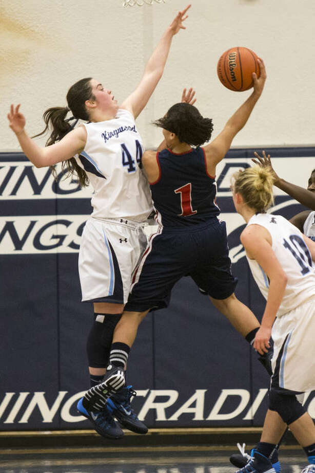 Kingwood's Charlotte Hodges has helped solidify the Lady Mustang defense this season. Photo: ANDREW BUCKLEY