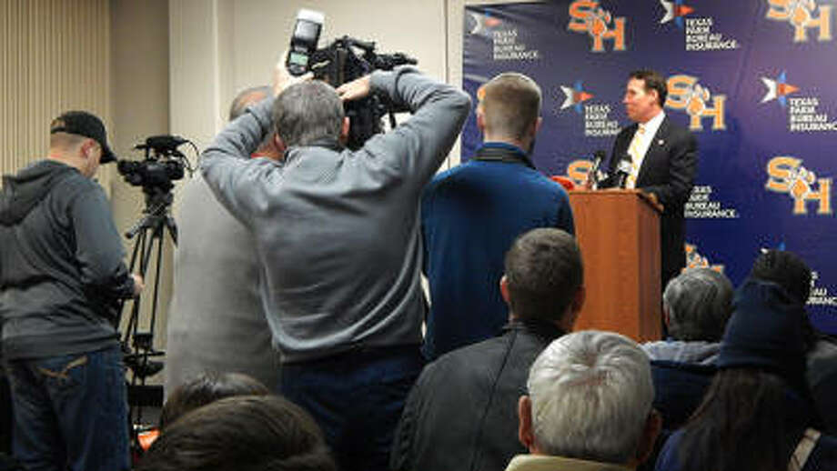 K.C. Keeler was introduced as Sam Houston State head football coach to he media on Friday.