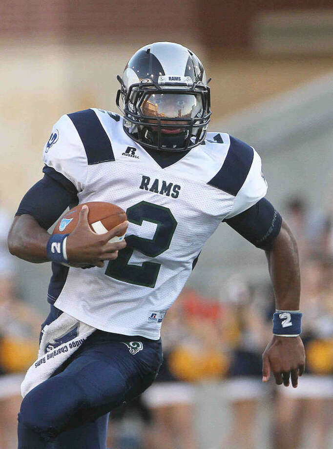 Cy Ridge's Darious Crawley committed to Kansas on Friday. Photo: Staff Photo By Jason Fochtman