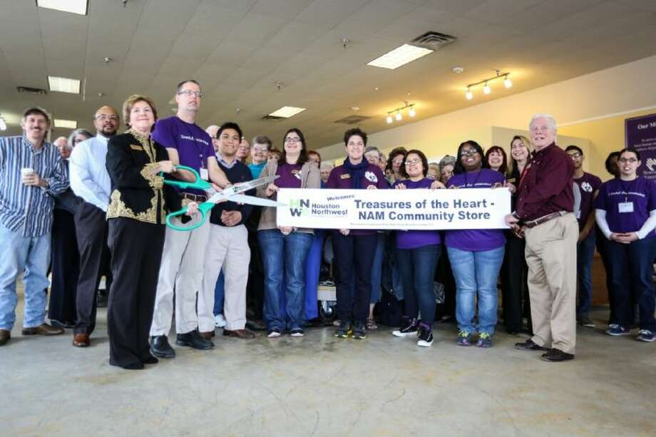Northwest Assistance Ministries celebrated the grand opening of their largest Treasures of the Heart resale store with a ribbon cutting ceremony on Thursday, Jan. 23, in Spring. The new location is located at the corner of FM 1960 W. and Kuykendahl Road. Photo: Michael Minasi