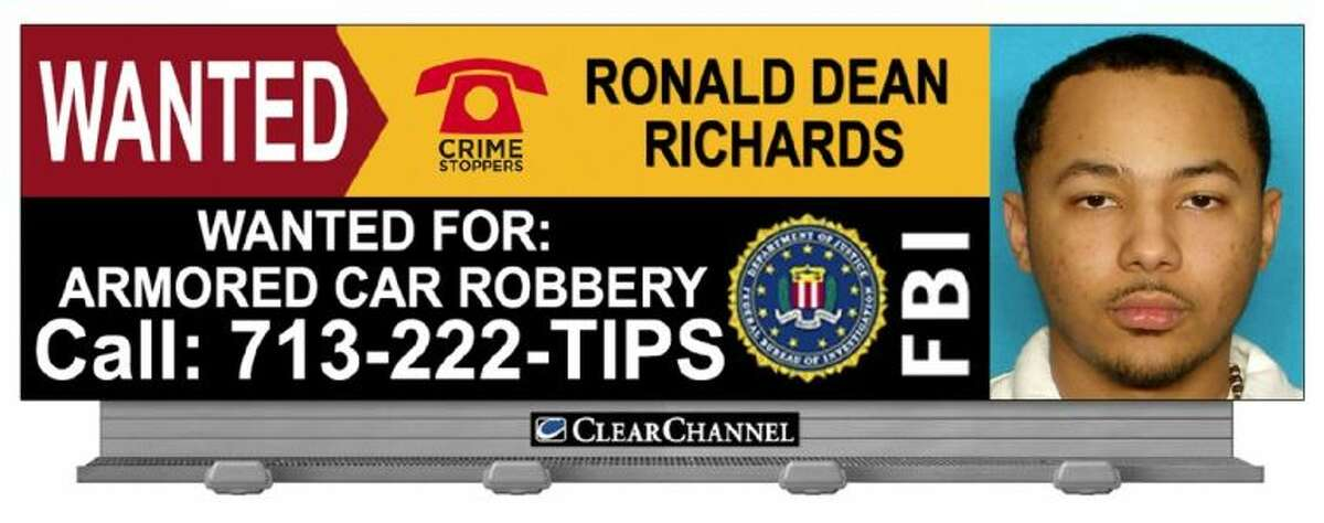 Also charged is Ronald Dean Richards, 23, who is considered a fugitive and a warrant remains outstanding for his arrest. Anyone with information about his whereabouts is asked to contact the FBI at 713-693-5000 or Crimestoppers at 713-222-TIPS. Crimestoppers will offer a reward up to $5000 for any information leading to his location and arrest.