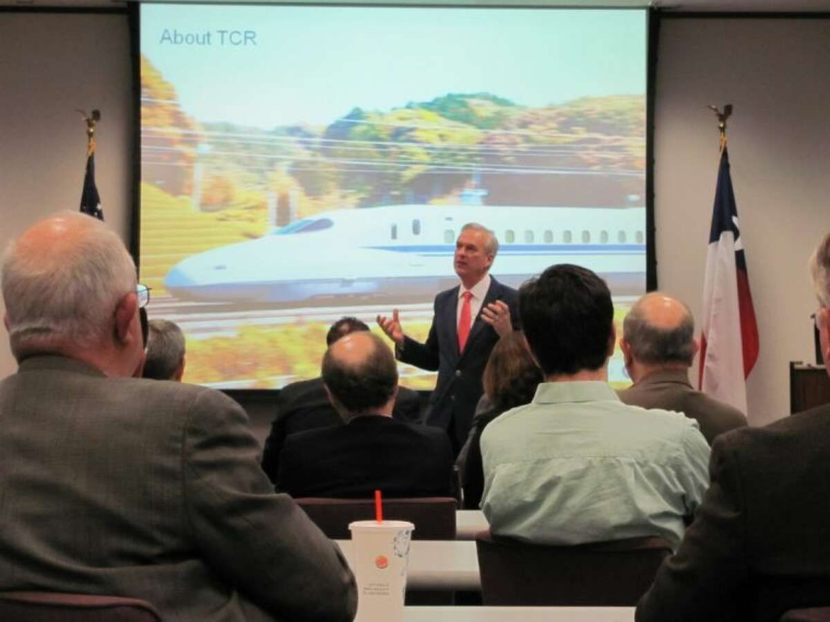 Texas Central Railways President Robert Eckels discusses his firm's plans to use private funding and build a high-speed train between Dallas/Fort Worth and Houston.
