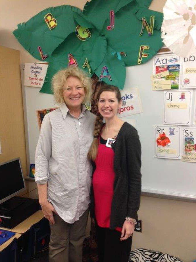 Pre-K teachers Mary Jane Jones and Amanda Wilson.