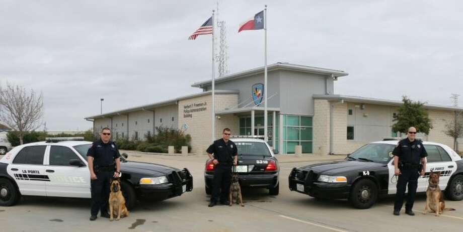 La porte increases k 9 unit with huligan and sylvester for Laporte tx police dept
