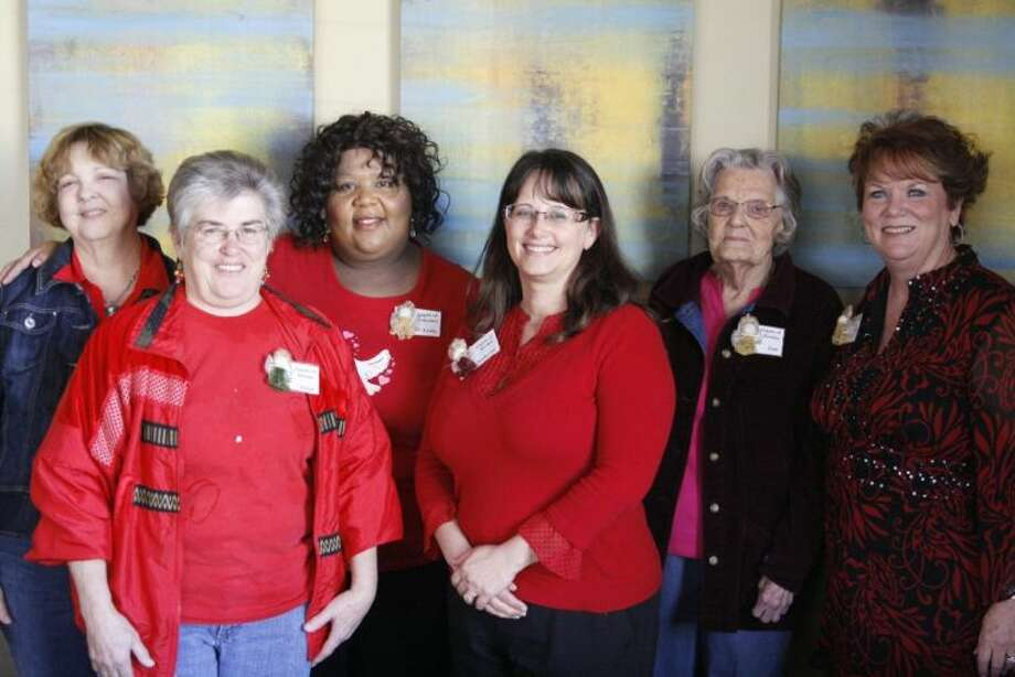 For Valentine's Day 2014, Linda Richard, along with the help of several volunteers, from left, Jan Christophers, Diane Doyle, Richard, Kathryn Doyle, June Christophers and Dottie Hill, visited numerous hospitals and care facilities around the Medical Center near downtown Houston to distribute handmade cards and angels to patients Feb. 13.