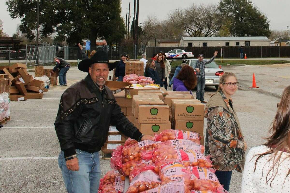 Food donations included fresh produce, canned goods and meat.