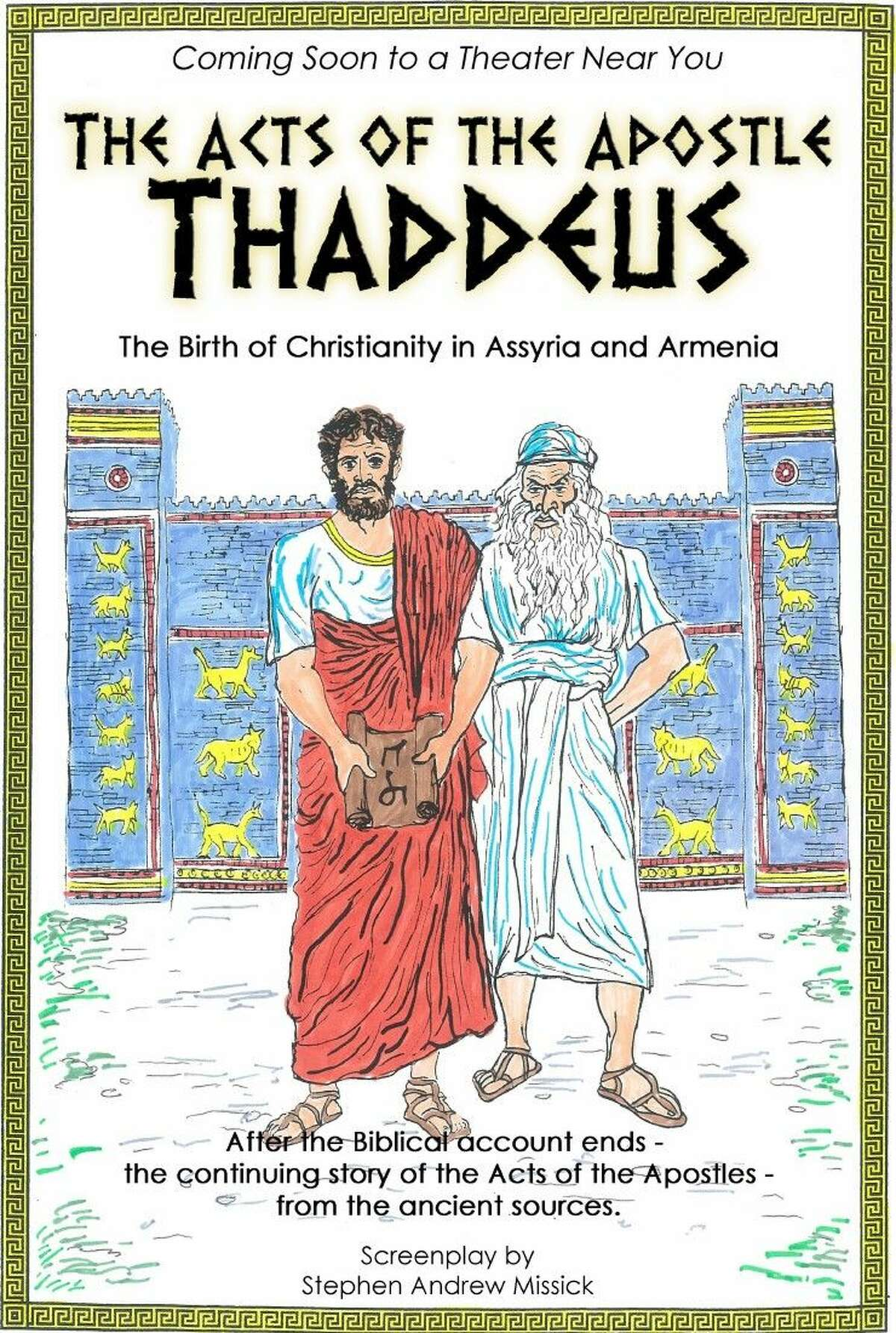 """A biblical screenplay, written and produced by Cleveland-area pastor Stephen Missick, depicts the life of the Apostle Thaddeus. The film has already acquired set designs and costumes, previously used by production teams on the television series """"Spartacus."""""""