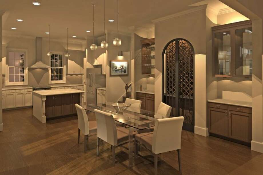 Gracepoint Homes Urban has started sales in Madeline, a gated community of 22 townhomes in the Greater Houston Heights area of Shady Acres. Prices of the three- and four-story homes start in the 440,000s. Pictured here is a rendering of combined kitchen dining space in a typical Madeline design. Photo: Submitted