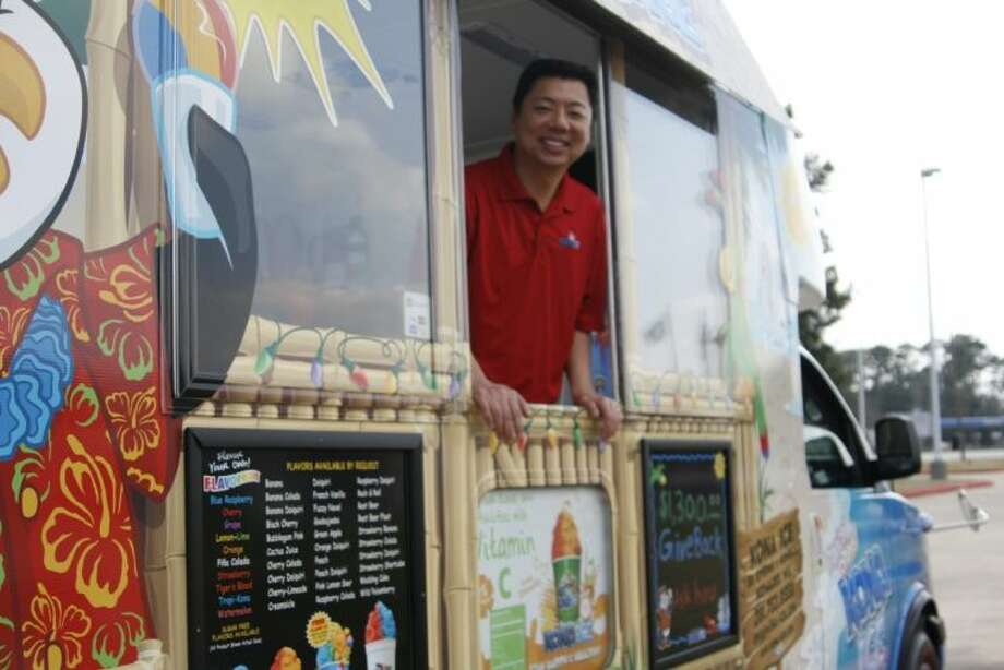 Local resident Edward Wu left the corporate world to pursue his own dreams of serving the community and giving back through a decked out Kona Ice truck where he can serve shaved ice treats to the community at various events.